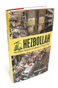 """Hezbollah: The Global Footprint of Lebanon's Army of God,"" by Matthew Levitt. Photo: Screenshot."
