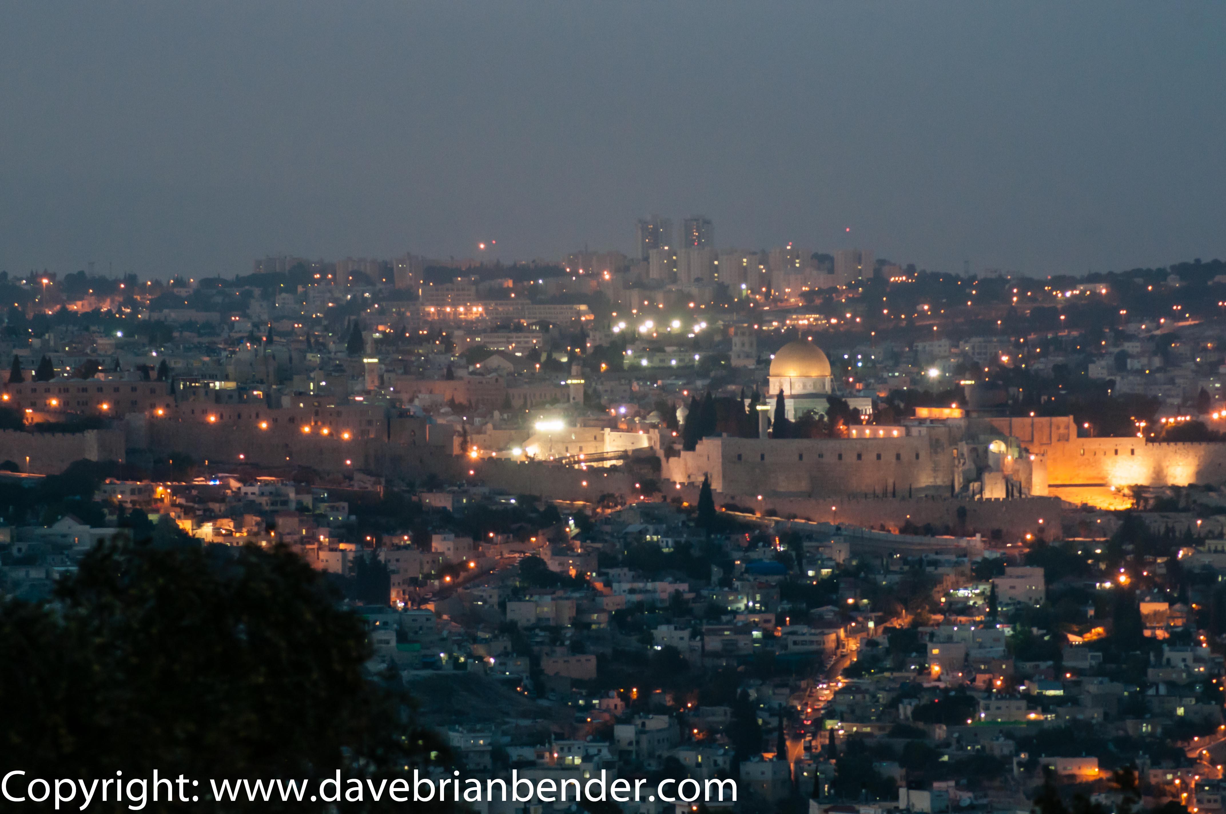 El Monte del Templo en la cima de la ciudad vieja de Jerusalén.  Foto: David Bender