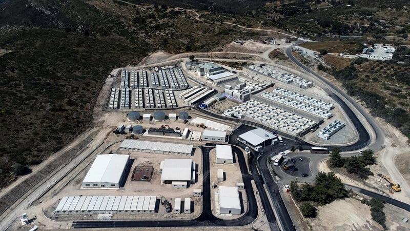 Camps fermé pour migrant -Samos, Grece-