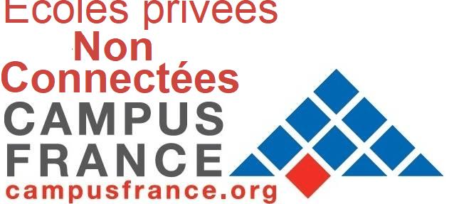 Ecoles privées Non Connectées Campus France questions 2019