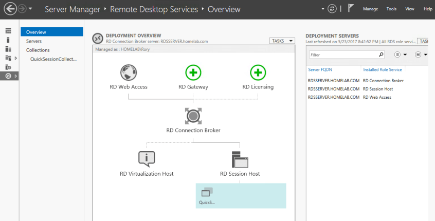 RDS in Server Manager