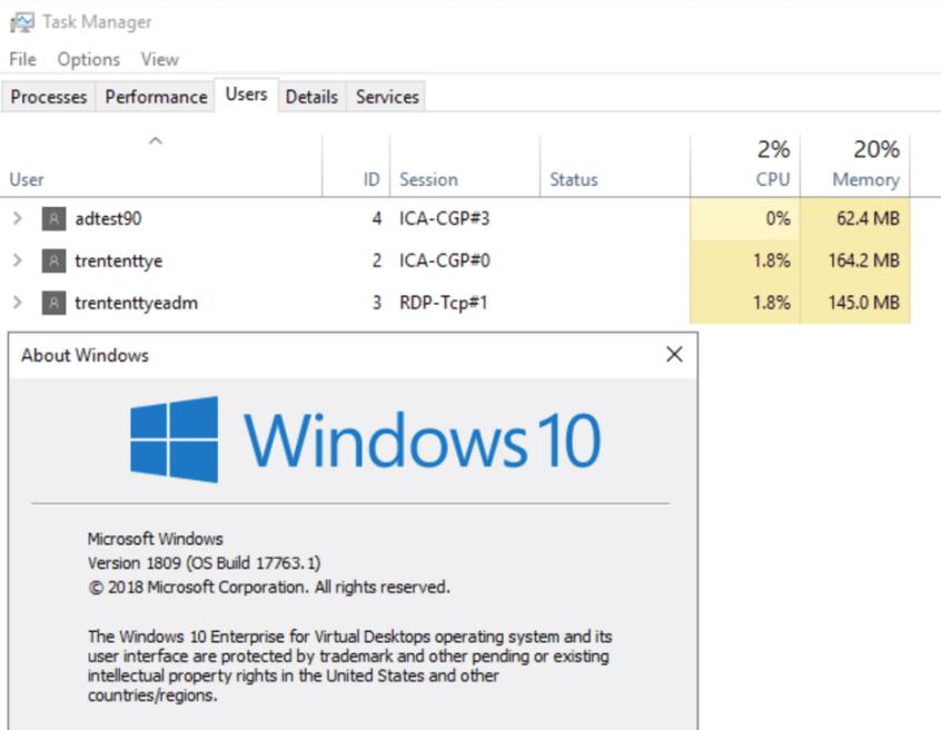 Windows 10 Multi-user