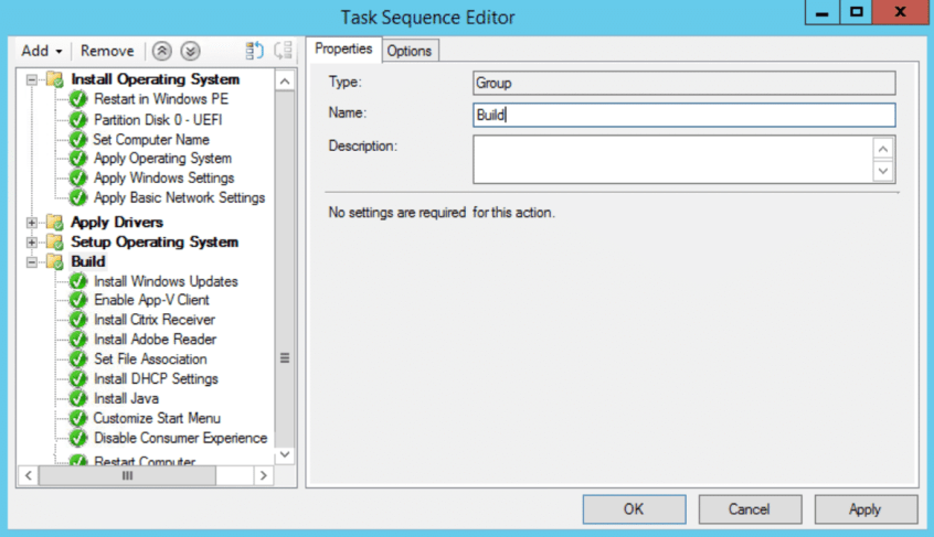 Task Sequence Editor