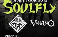 Verdugo y Chaos Before Gea acompañarán a Soulfly en su concierto de Málaga el 29 de julio