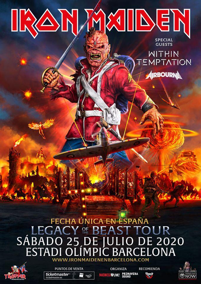 IRON MAIDEN 25 DE JULIO DE 2020 EN BARCELONA – ÚNICO CONCIERTO EN ESPAÑA
