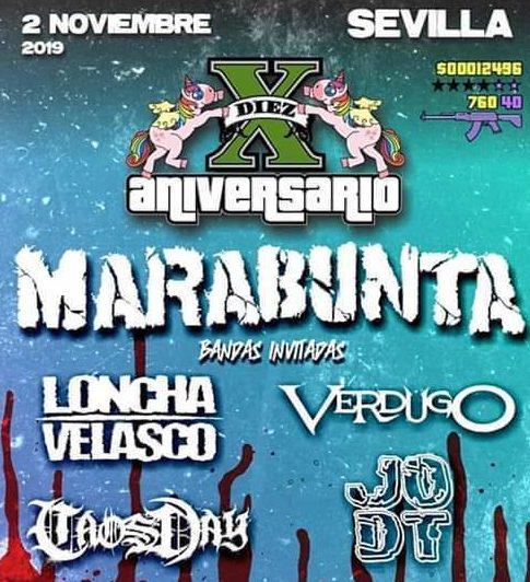 [Crónica] MARABUNTA concierto X Aniversario en Sevilla