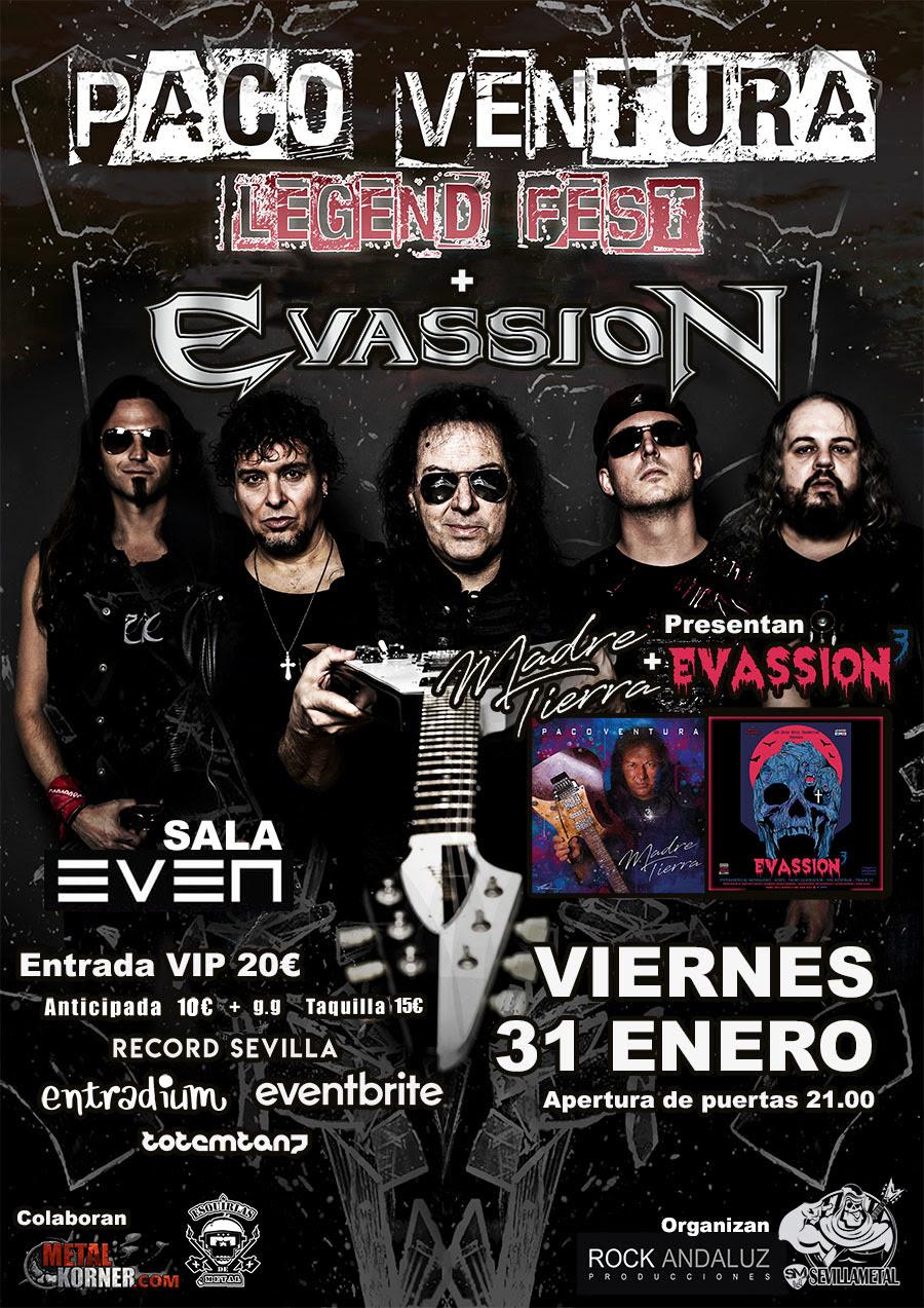 Paco Ventura + Evassion en Sevilla (31 Enero en Sala Even)