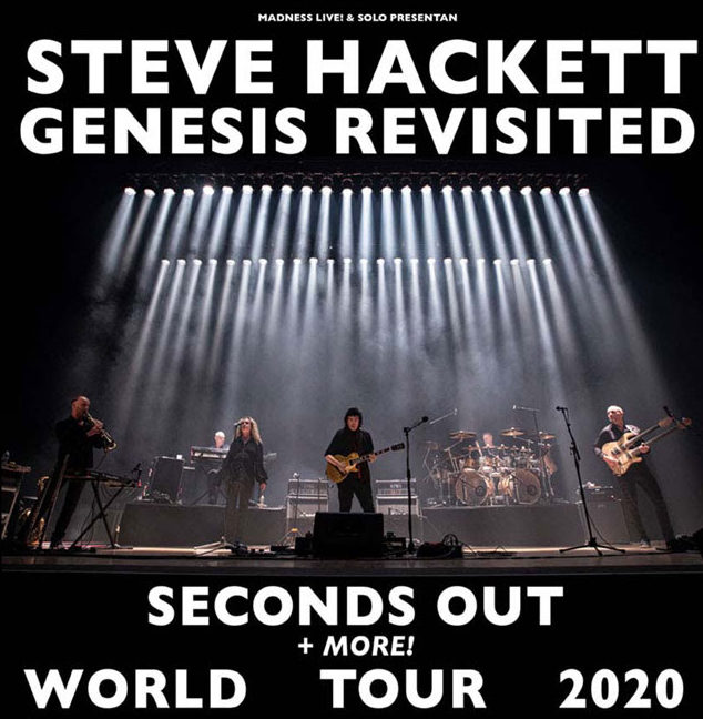 STEVE HACKETT PRINCIPAL GUITARRISTA DE GENESIS DE GIRA EN SEPTIEMBRE DE 2020