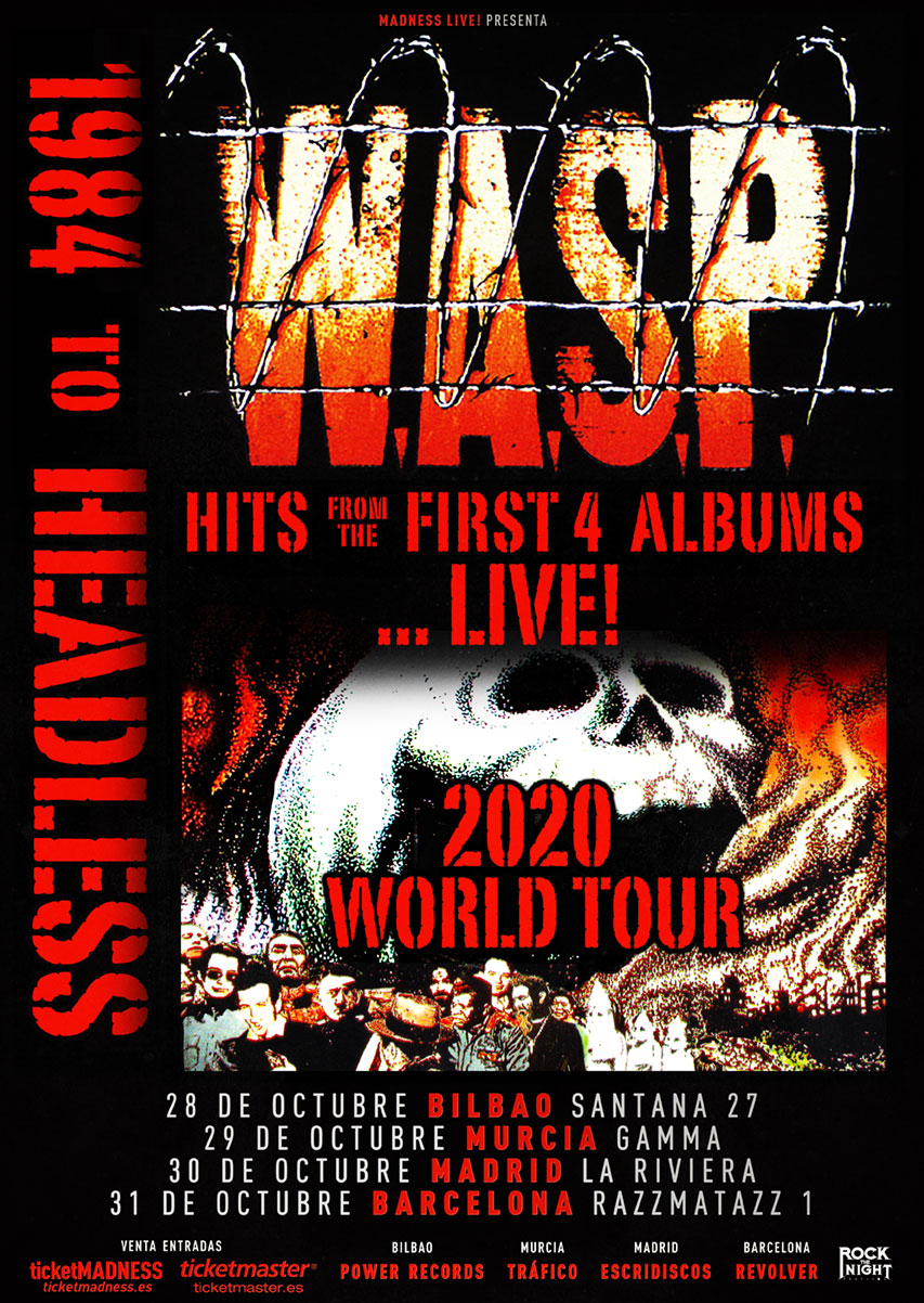 W.A.S.P. – GIRA 1984 TO HEADLESS EN ESPAÑA