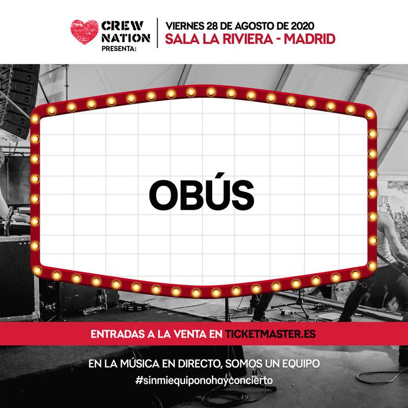 OBUS – 28 DE AGOSTO – LA RIVIERA (MADRID)