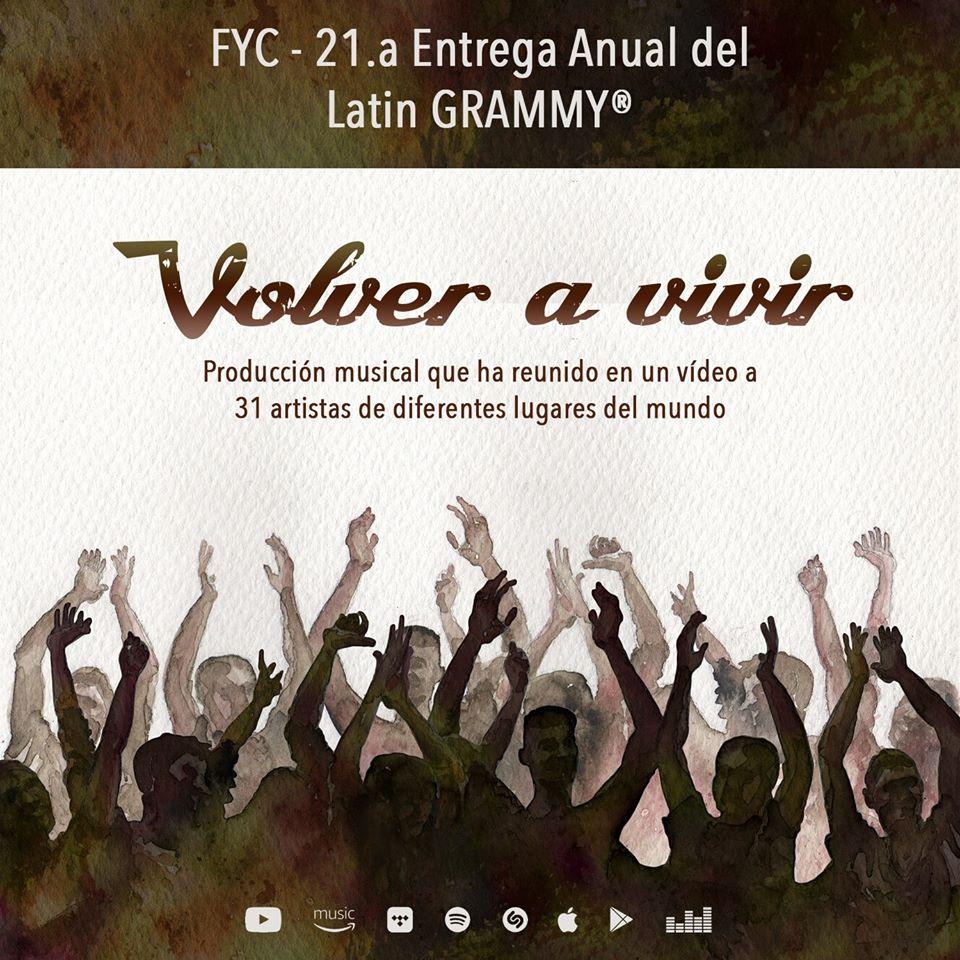 VOLVER A VIVIR: Proyecto solidario internacional y producido en Almería nominado al mejor vídeo musical versión corta en los premios LATIN GRAMMY