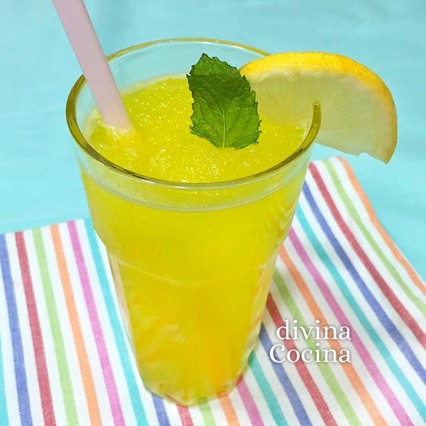 Granizado de limón casero