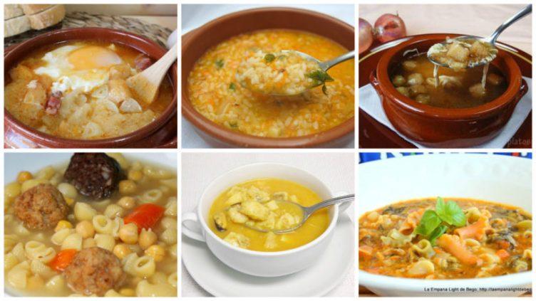 6 Recetas de sopa de diario