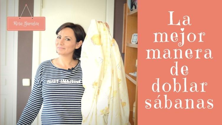 Como doblar sábanas ahorrando espacio