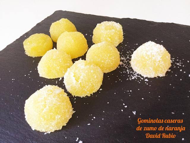 Gominolas caseras de zumo de naranja