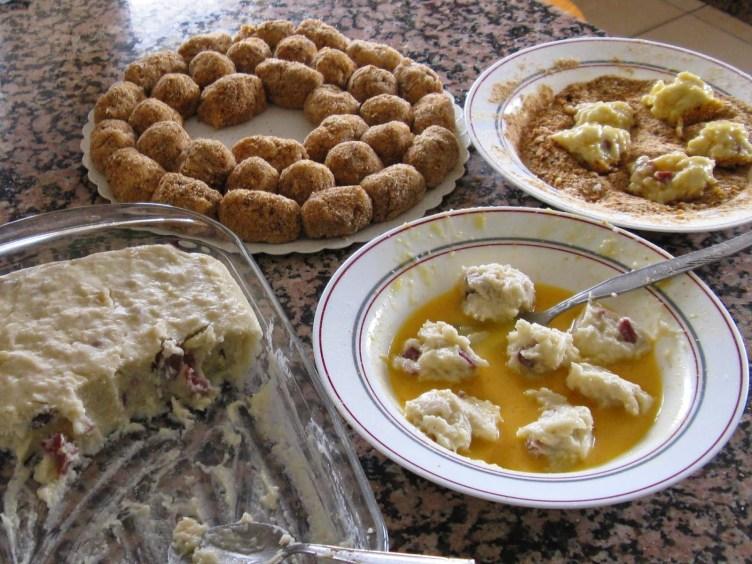croquetas de coliflor y jamón