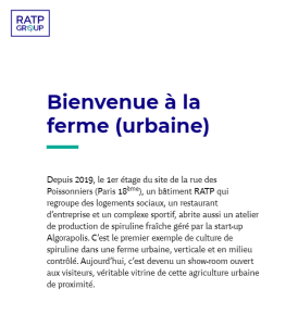 Article RATP ESTATE - Bienvenu à la ferme (urbaine)