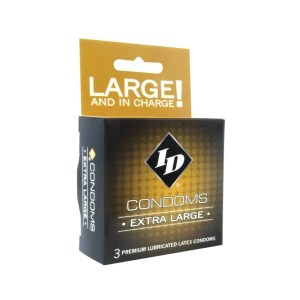 ID Extra Large Condoms 3-pack