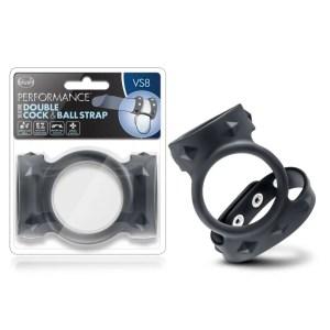 Performance - VS8 - Silicone Double Cock & Ball Strap