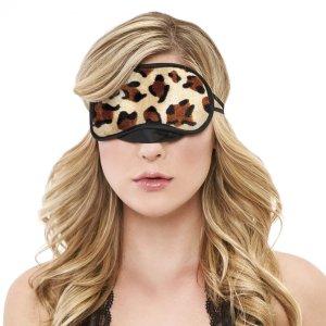 Peek-A-Boo Love Mask Leopard