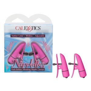 Nipplettes Vibrating Nipple Clamps - Pink or Purple