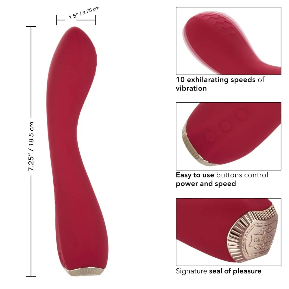 Uncorked Red Malbec - Silicone Rechargeable Vibrator - by Calexotics