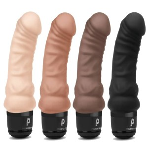 6 inch Realistic Silicone Rechargeable Vibrating Dildo