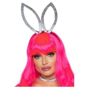 Rhinestone Bunny Ear Headband and Choker - by Leg Avenue