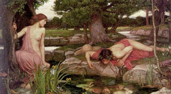 John William Waterhouse, Eco e Narciso (1903)