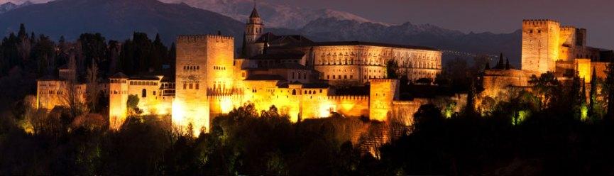 Resultado de imagen de alhambra granada noche