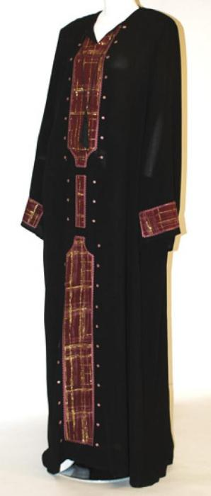 Amair Al Karam Embroidered Abaya  ab439