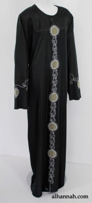 Traditional Embroidered Egyptian Pull-over Abaya  ab527