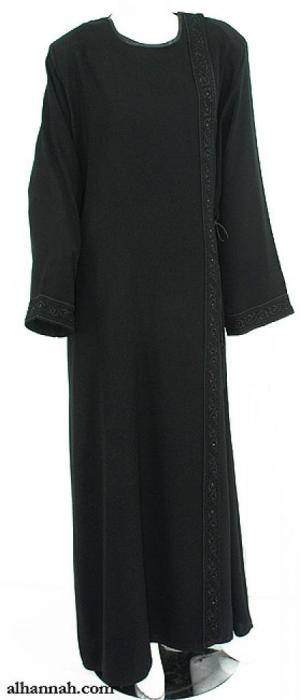 Classic Omani Shoulder Close Abaya ab630