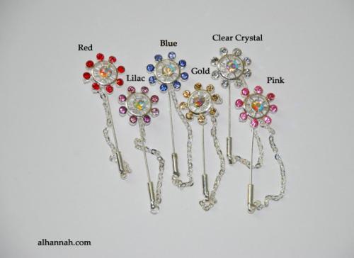 Rhinestone Stick Hijab Pins ac290
