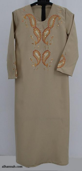 Girls Embroidered Thobe ch483