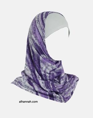 Chicas Amira Vine Imprimir Hijab - 2 Pieza ch495