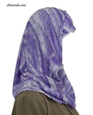 Chicas AlAmirah Hijab Lilac Imprimir ch502