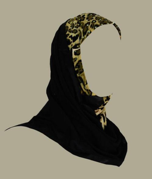 Kuwaiti style twist hijab hi1409