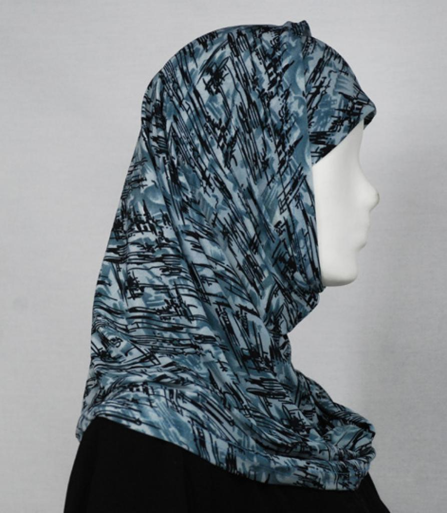 Abstract Brushstroke Al Amirah Hijab hi1642