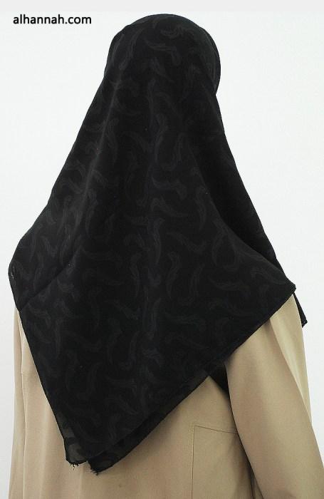 Solid Color Jacquard Hijab hi2014