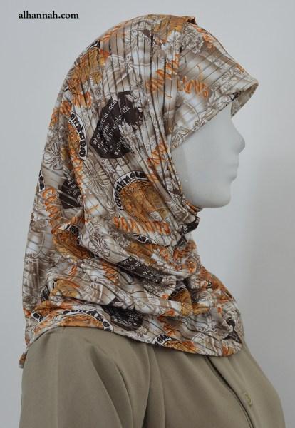 AlAmirah Hijab with Brown Print hi2037