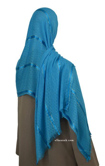 Oversized Muslim Jaquard Wrap  hi2075
