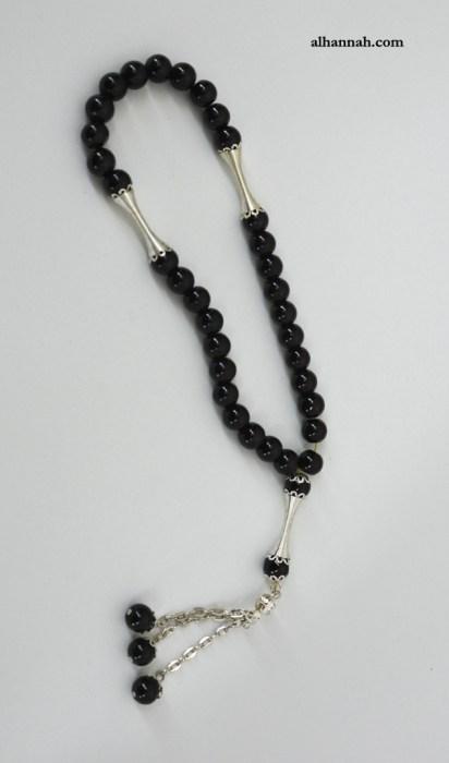 Onyx Black 33 Bead Premium Prayer Beads ii1071