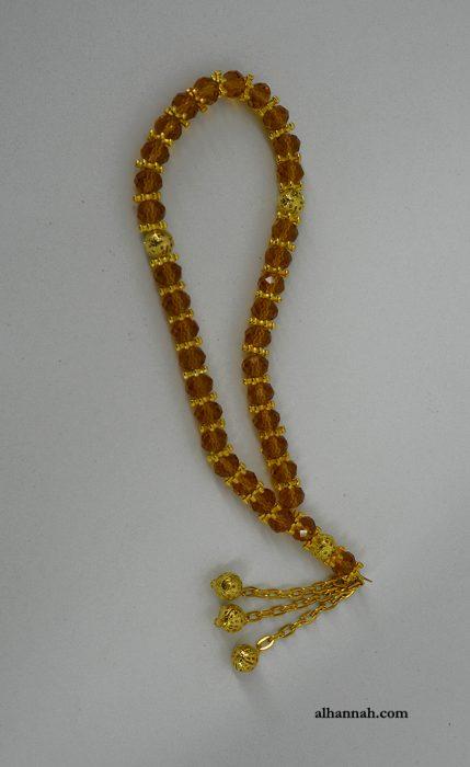 Premium Amber Tone Crystal Prayer Beads ii1074