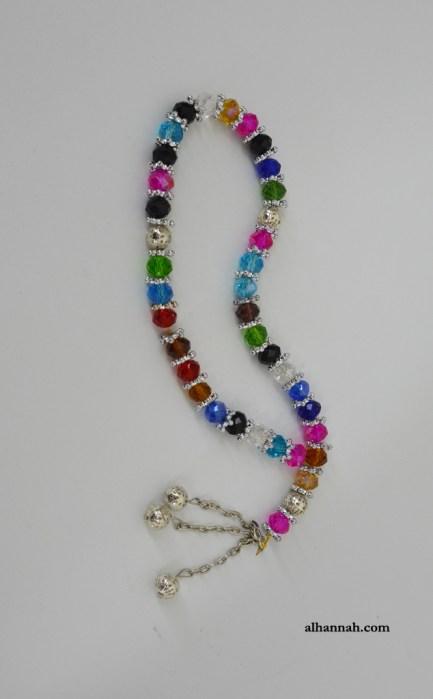 Deluxe Multicolor Crystal Prayer Beads 33 bead set ii1077