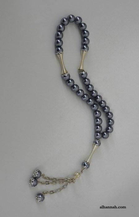 Hematite Tone Prayer Beads  ii1080