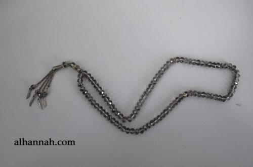 Premium Metallic Cut-Crystal Prayer Beads ii972