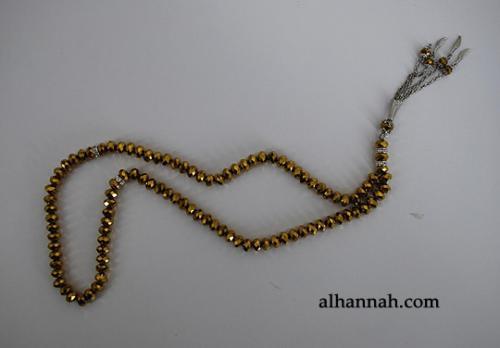 Premium Metallic Cut-Crystal Prayer Beads ii975