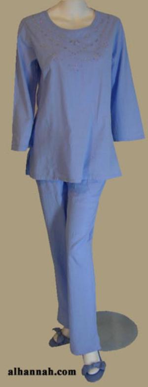Lightweight Cotton Pants Set ji608