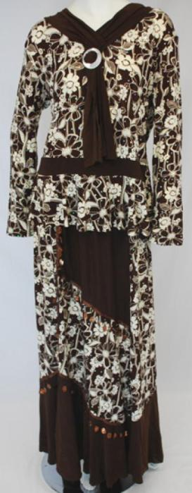 Islamic Clothing - Petite Floral Skirt Set ji636